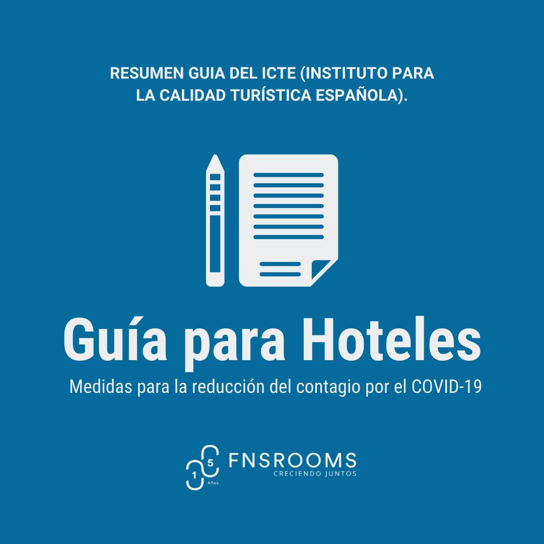 Medidas para reducir el contagio por COVID-19 en hoteles y apartamentos turísticos