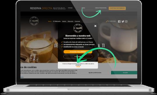 código promocional página web hotel