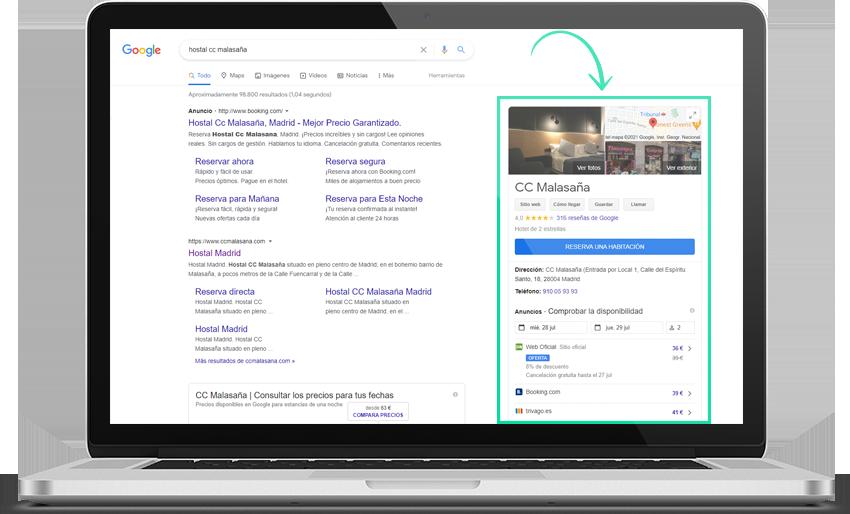 FNSbooking en Google Hotel Ads